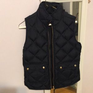 Navy blue Jcrew vest. Worn lightly like new